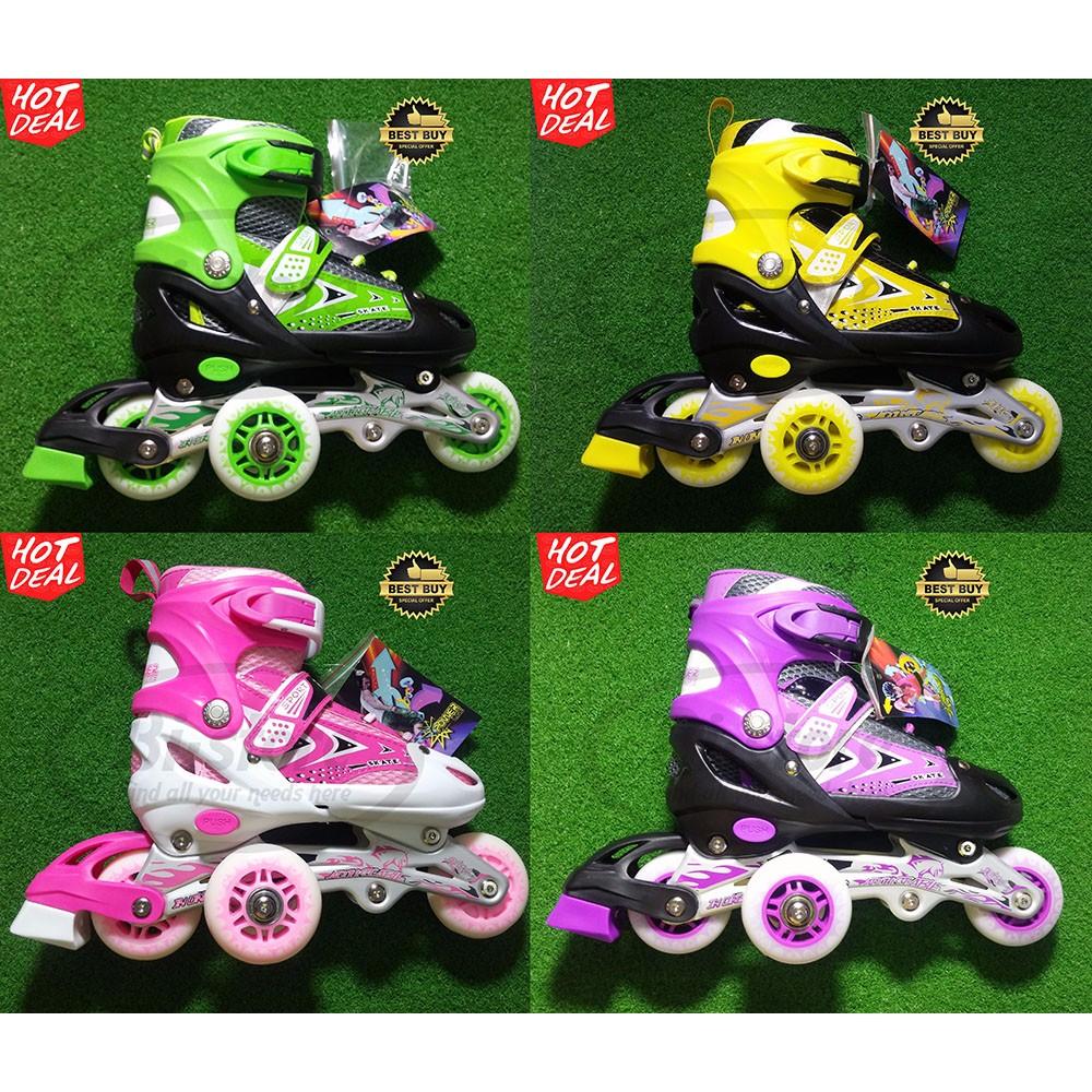 Sepatu Roda Inline Skate Power Aosite 1000 Ban Karet Jahit Murah S M L  14471dbca0