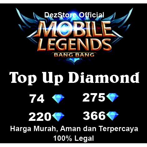 Termurah Top Up Diamond Mobile Legends Aman Murah Terpercaya Shopee Indonesia