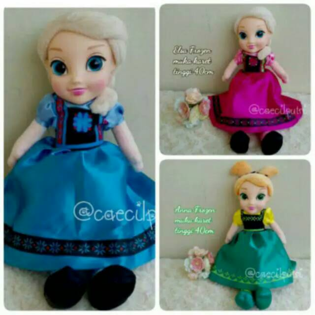 Boneka tokoh kartun Baby Cute Fancy Frozen Princess Elsa   Anna SNI ... f7a4bb3673