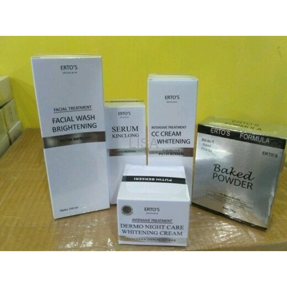 Ertos Original Paket Facial Wash Cc Cream Night Airchusion Bedak Toner Shopee Indonesia