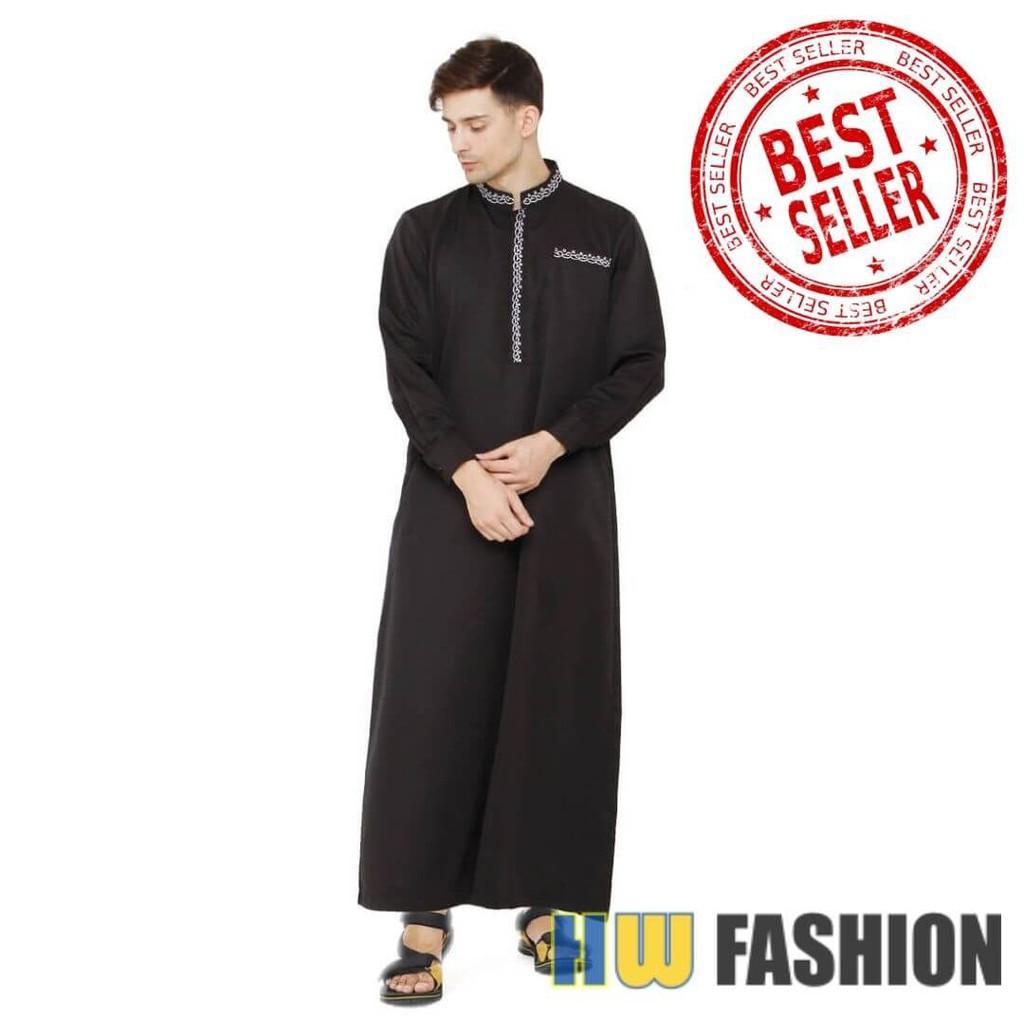 Baju Gamis Pria hitam Java Seven MMT 12 murah asli ori original
