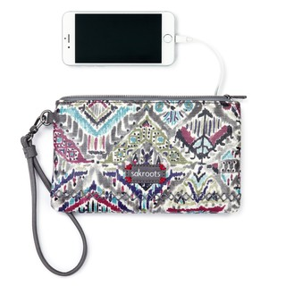 Sakroots Wristlet with Powerbank Slate Brave Beauti