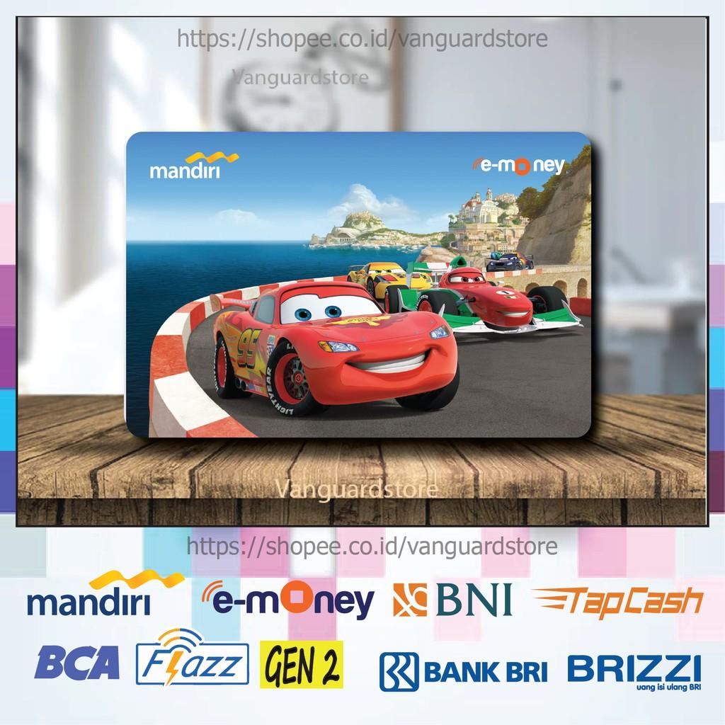 Kartu E Money E Toll Cars 2 Mobil 95 Kartun Movie 31 Emoney Mandiri Flazz Bca Bni Tapcash Brizzi Shopee Indonesia