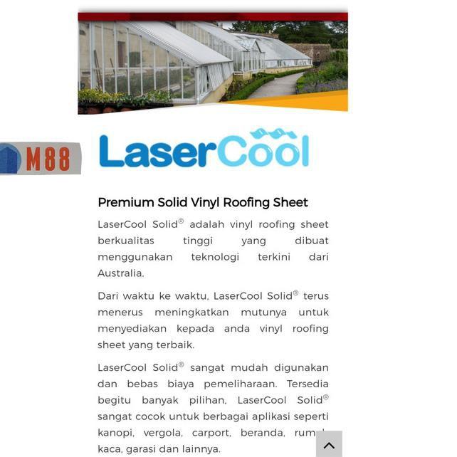 ü Id7 Lasercool Solid Flat Per Meter Penutup Pintu Pagar Atap Kanopi Shopee Indonesia