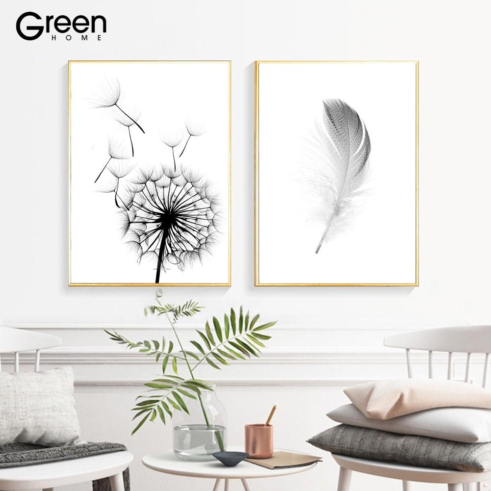 Lukisan Dengan Bahan Kanvas Dan Gambar Bunga Dandelion Untuk