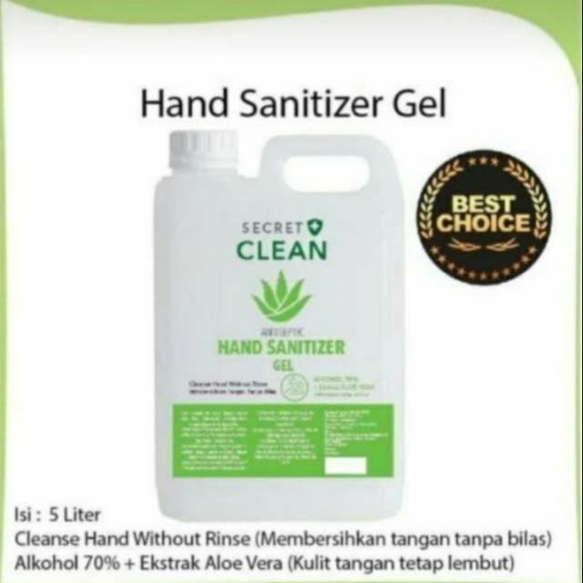 Hand sanitizer Gel 5 liter