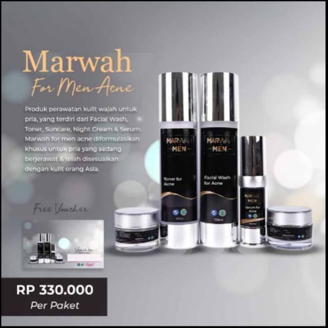 Cod Marwah Skin Care For Men Acne Untuk Mencerahkan Dan Menghilangkan Jerawat Original 100 Shopee Indonesia