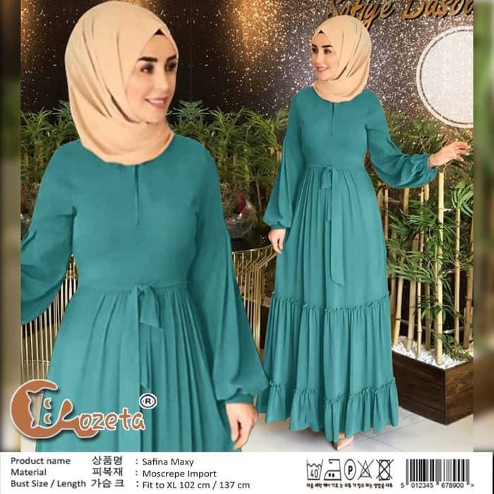 Gamis Simple Cantik Casual Kekinian Belah Bawah Kanan Kiri Safina Maxy Tosca Tua Gamis 0115 48str Shopee Indonesia