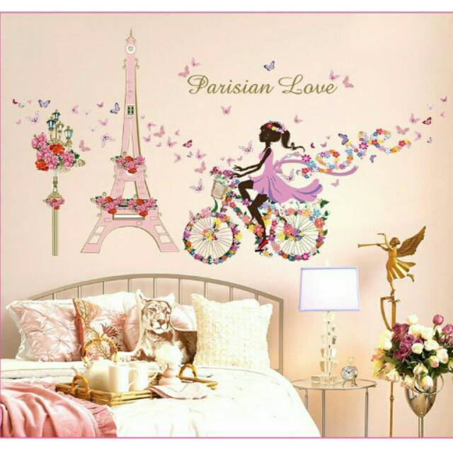 wallsticker 3d/wallsticker paris/stiker dinding ca036 | shopee indonesia