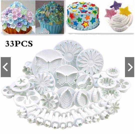 3x Butterfly Fondant Cake Decorating Plunger Cutter Sugar Paste Icing Molds`UK