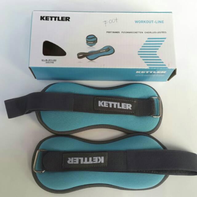 Kettler Foot Band Blue (2kg/pair) / Pemberat Kaki Kettler 2kg biru /