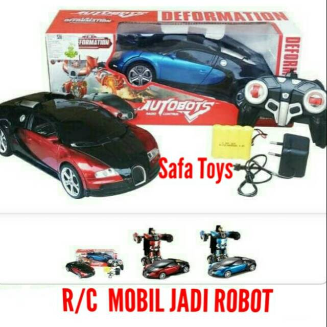 R C Autobot Mobil Jadi Robot Remot Control