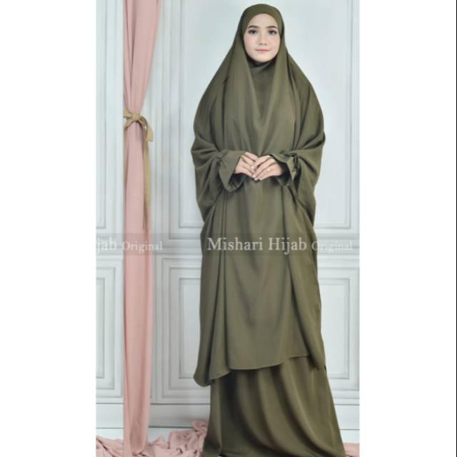 French Khimar Set Rok 2in 1|setelan khimar|Fashion muslim