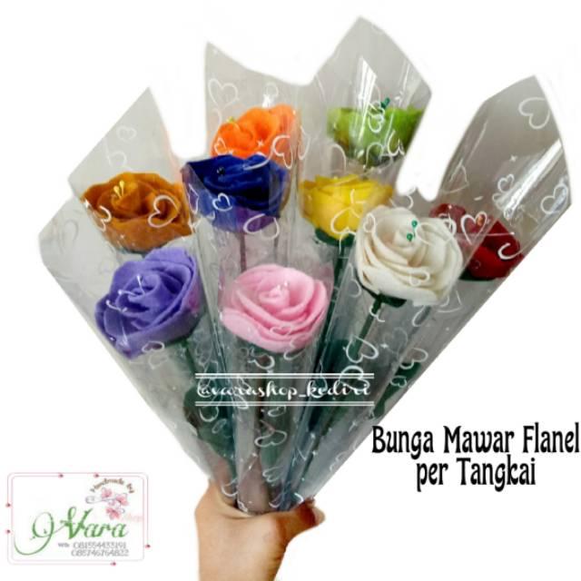 Ready Siap Kirim Bunga Flanel Per Tangkai Buket Bunga Flanel