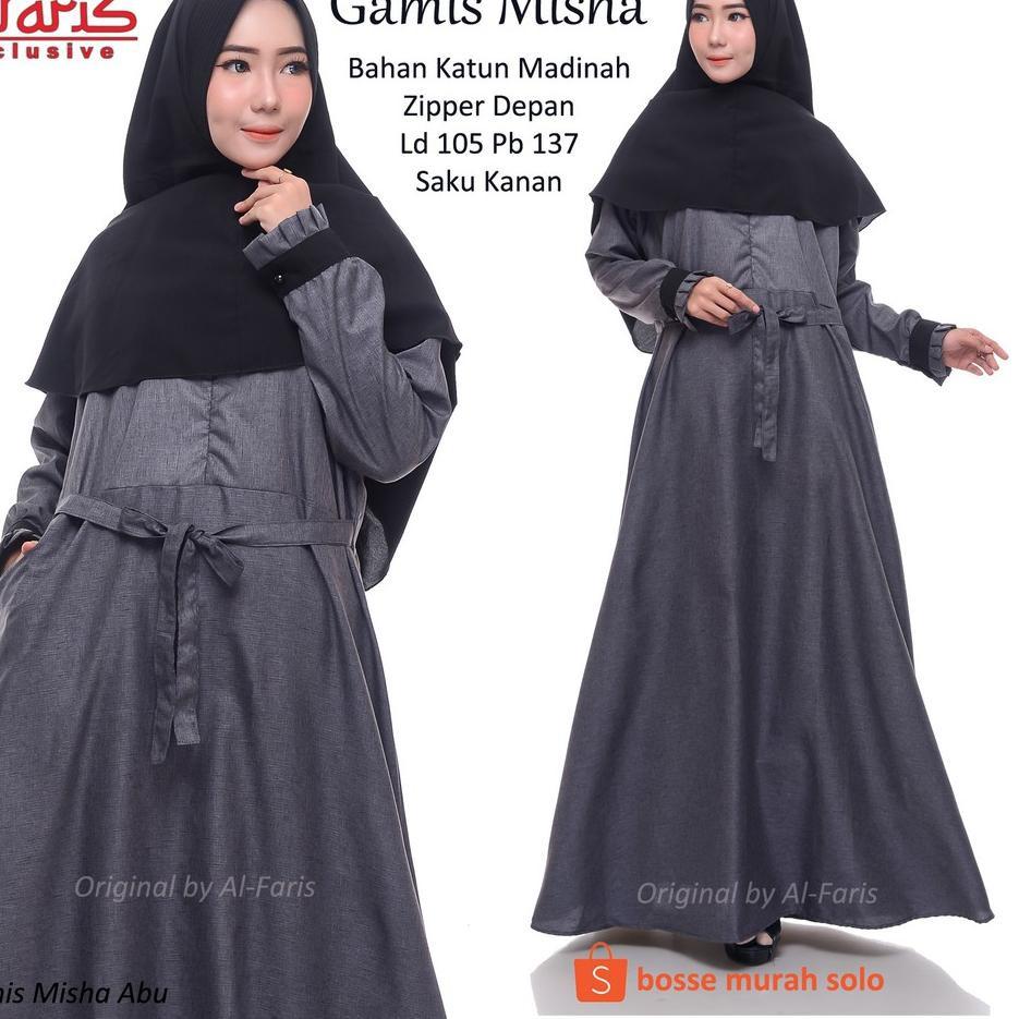 Paling Diminati Gamis Misha Gamis Katun Madinah Madina Premium Teksture Serat Kayu Shopee Indonesia