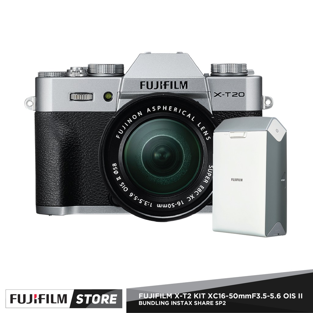Fujifilm X100f Instax Share Sp 2 Silver Shopee Indonesia X T2 Body Only Xf 56mm F12