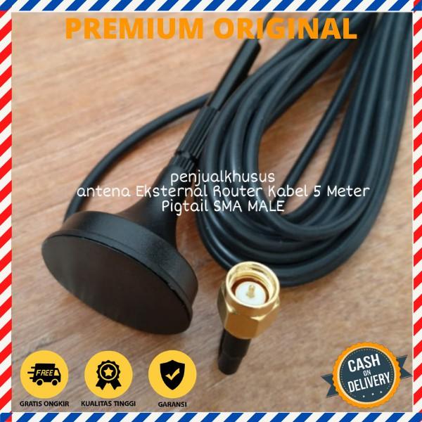 Antena Modem Orbit Star Telkomsel Huawei B312 B311 Kabel 5M SMA MALE