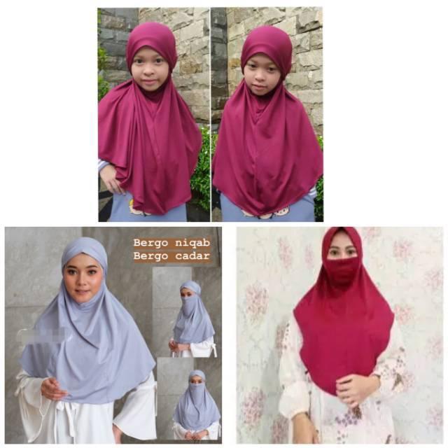 Cacat Jilbab Niqob Masker Anak Wanita Instan Non Pet 2in1 Kerudung Hijab Anti Debu Murah Bergo Shopee Indonesia