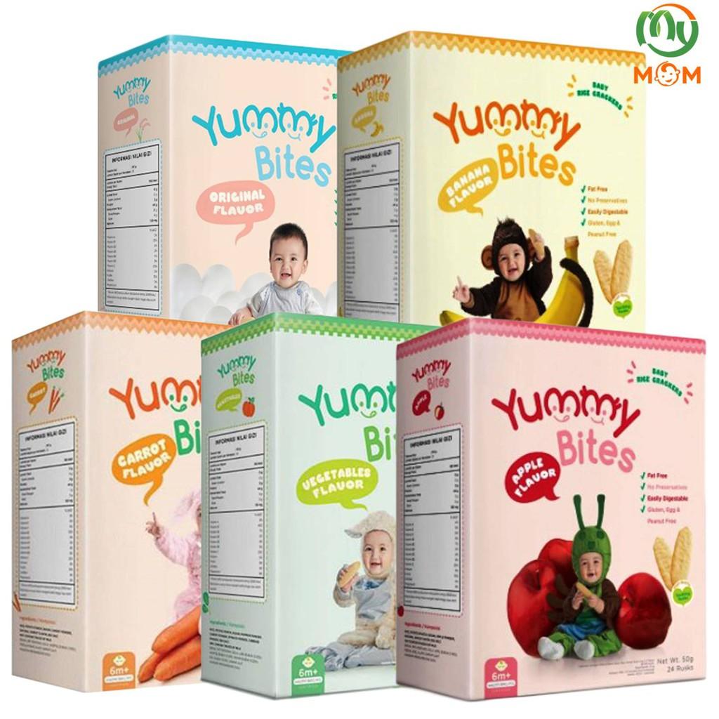 Aydekshop Yummy Bites Baby Rice Crackers Snack 50gr 6 Diatas 123 Biskuit Bayi Makanan Bulan Shopee Indonesia