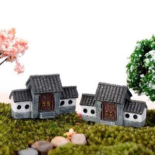 miniatur rumah korea jepang china ornamen bonsai plastik