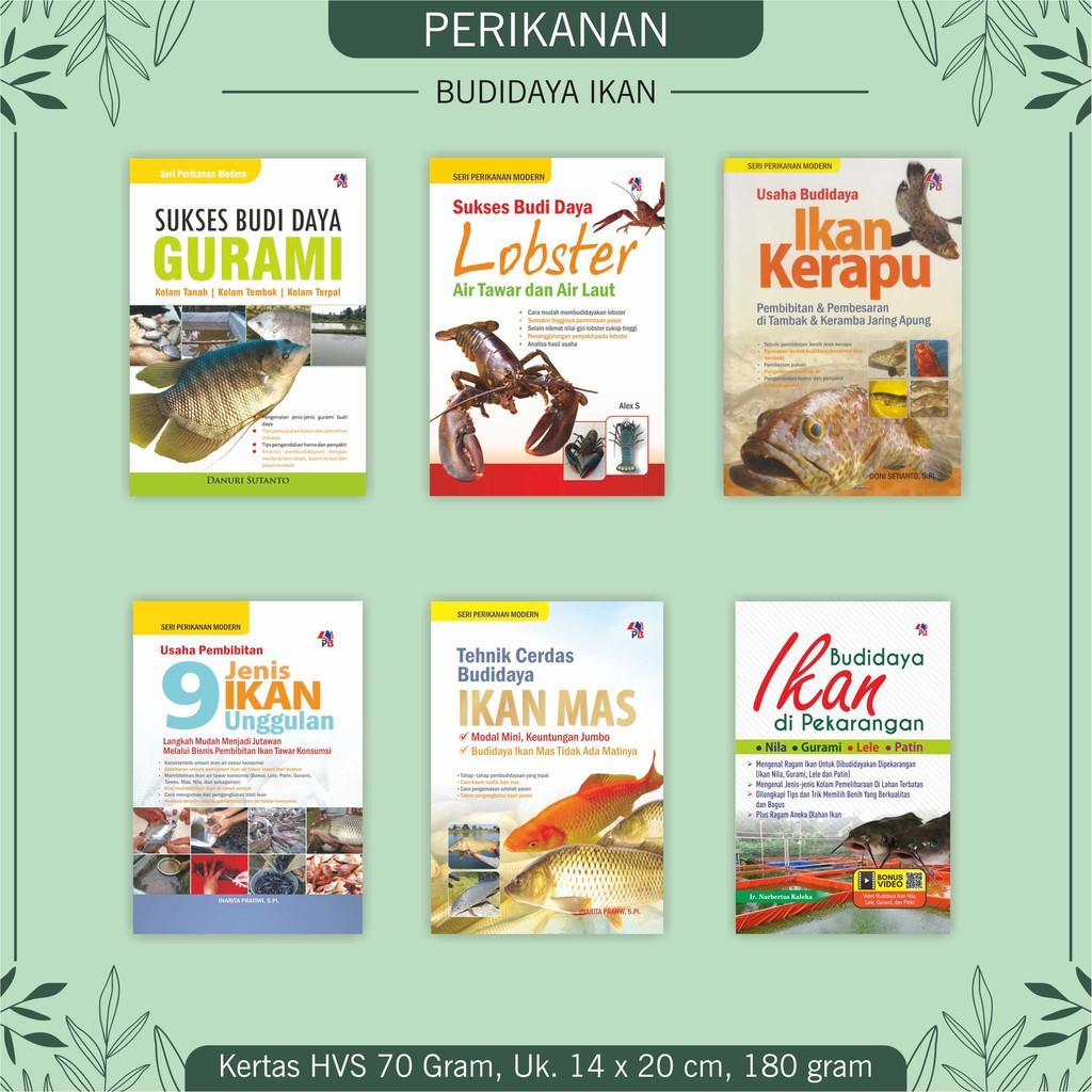 Buku Perikanan Beternak Gurami Lobster Ikan Kerapu Ikan Unggulan Ikan Mas Shopee Indonesia