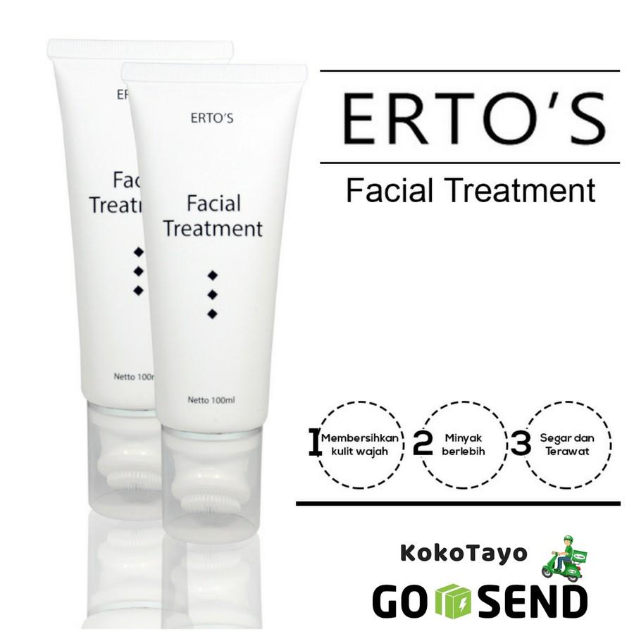 Ertos Facial Treatment Original Bpom 100ml Gel Dan Sikat Pembersih Wajah Shopee Indonesia