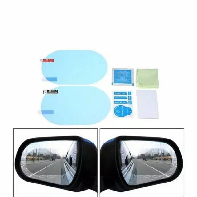 2x Car Anti Water Mist Film Anti Fog Rainproof Door Window Mirror Film 21*17cm