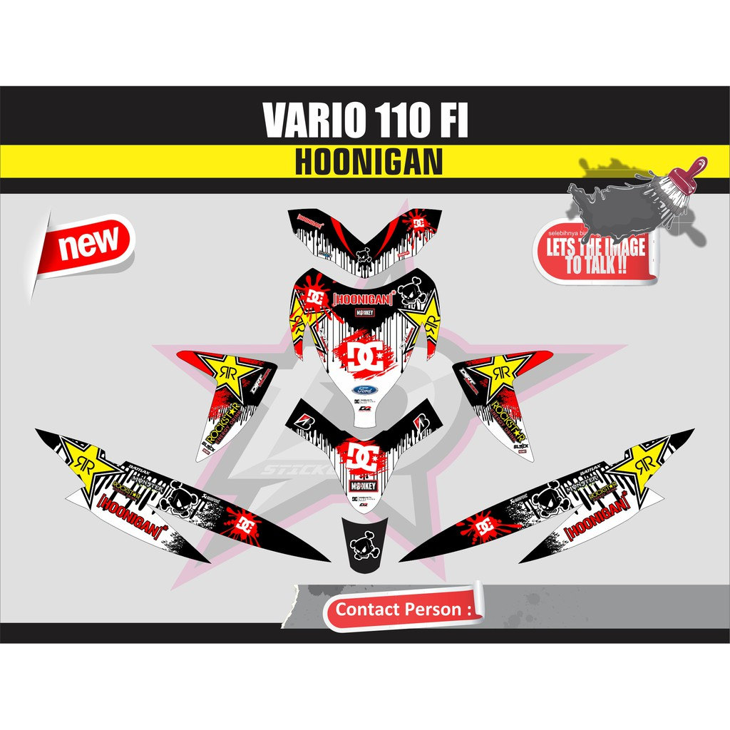 Decal stiker honda vario 110 fi via via via shopee indonesia