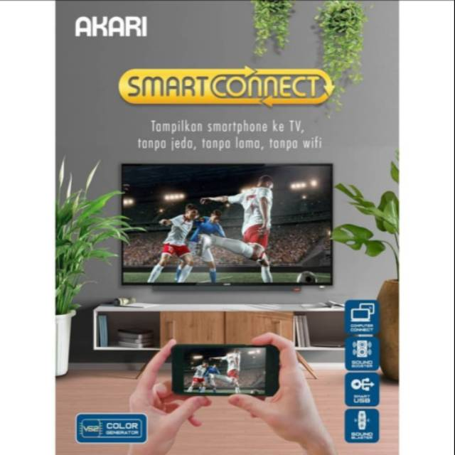 Led Tv Akari Smart Connect Akari Sc 52v40 40inci Hitam Terbaru 2020 Shopee Indonesia