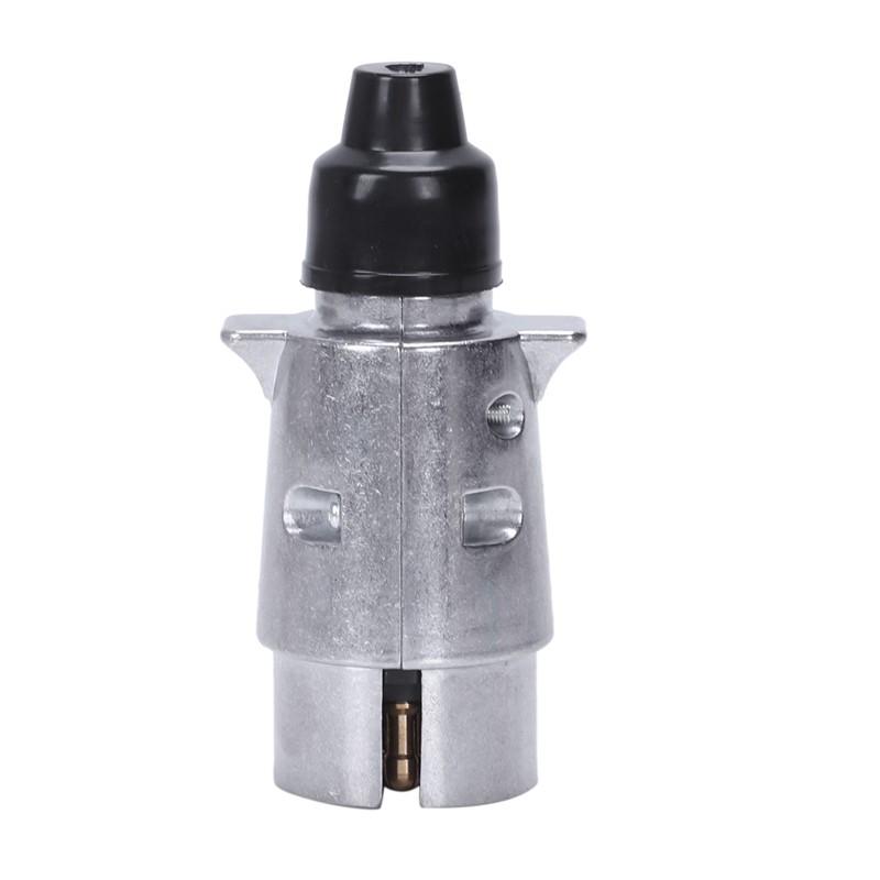 7 Pin Trailer Plug Heavy Duty Round Pin 7 Pole Wiring Connector 12 Hu5855 Shopee Indonesia
