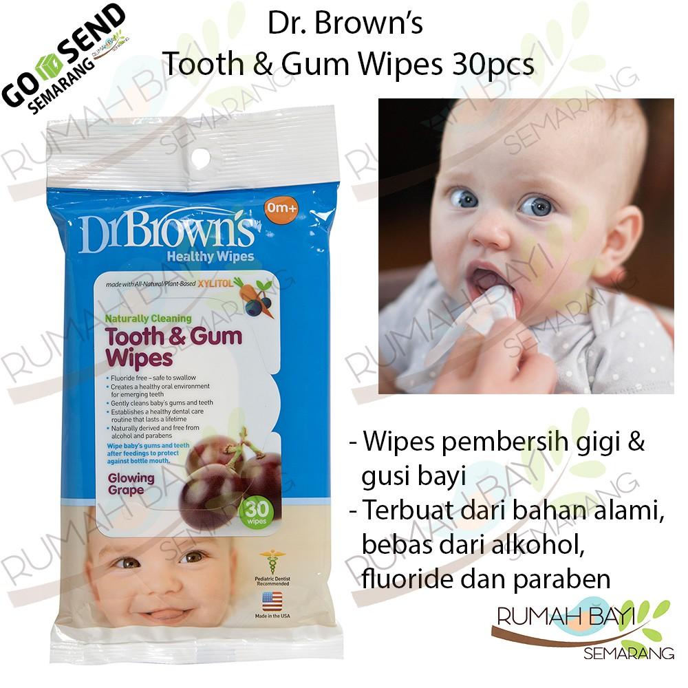 Dr Brown S Tooth Gum Wipes Tissue Pembersih Gigi Dan Gusi Bayi