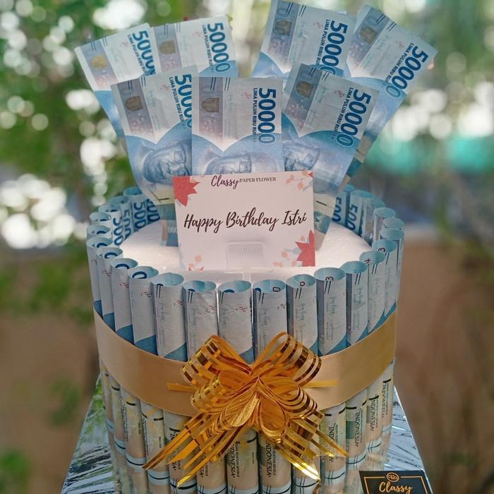 COD Money Birthday Cake / Kue Uang / Buket Bouquet Bunga Uang / Ultah