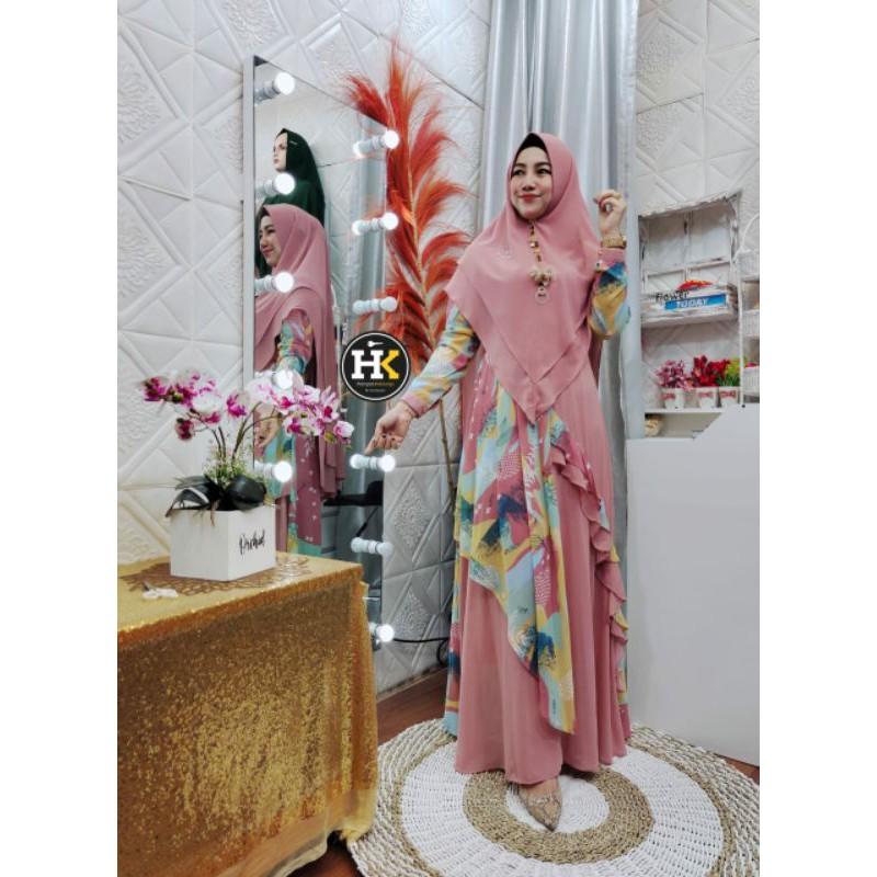 Mahira syari by HK Dermawan pink only