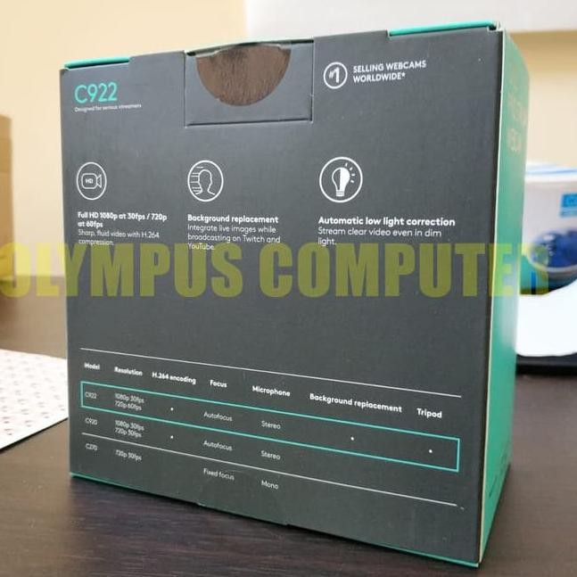 Diskon Simbol2 New Logitech C922 Pro Stream Webcam Full Hd