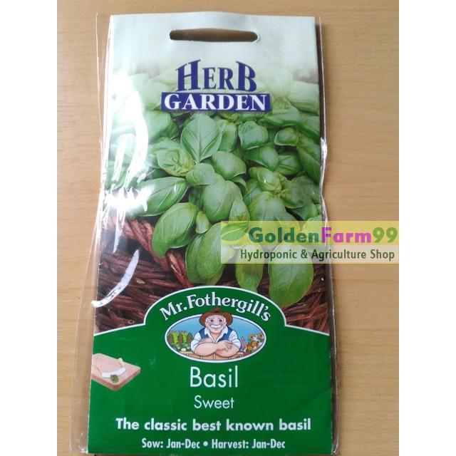 Ready Stock Benih Basil Sweet Herb Garden Dengan Harga Terjangkau | Shopee Indonesia