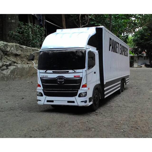 Miniatur Truck Hino Fuso Box Shopee Indonesia