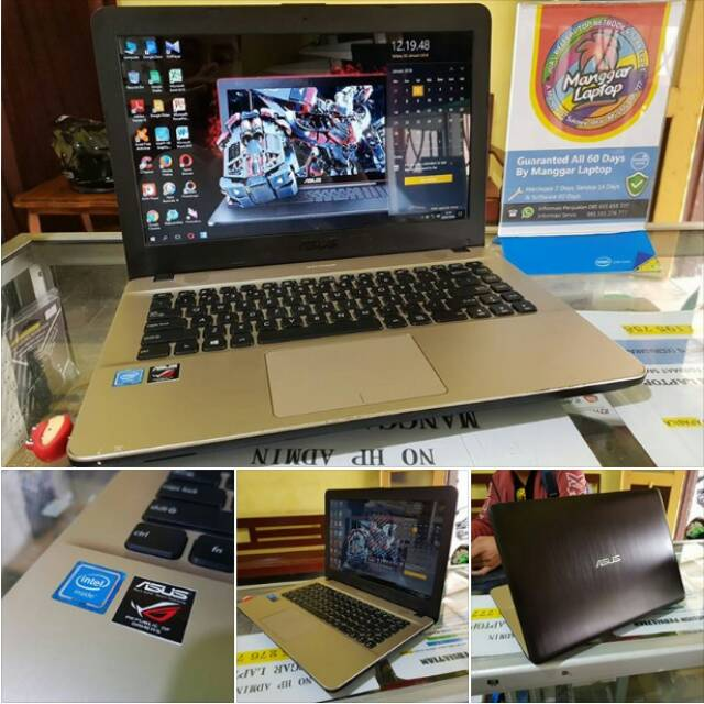 harga Laptop seken laptop slim VIVOBOOK ASUS BLACK X441SA READY GAMER model baru Shopee.co.id