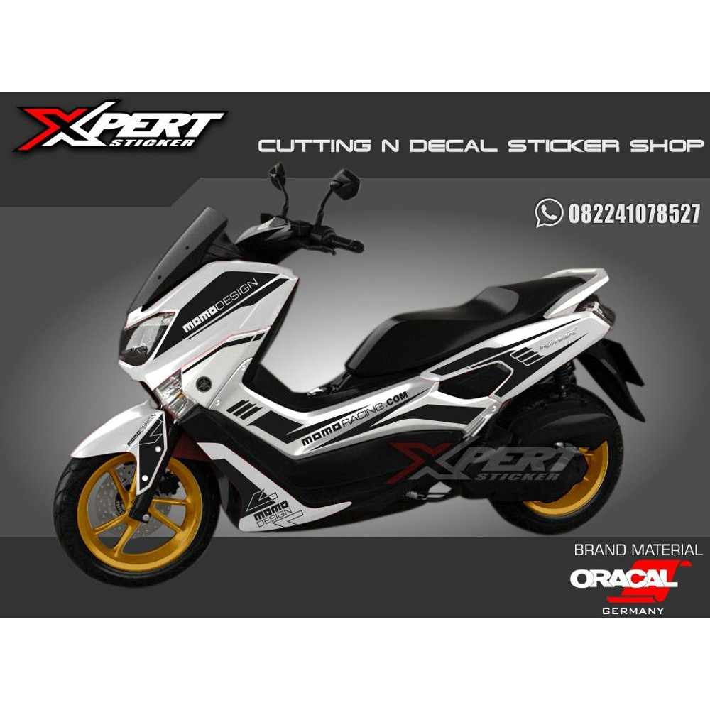 Cutting sticker nmax stiker nmax striping nmax yamaha momo design shopee indonesia