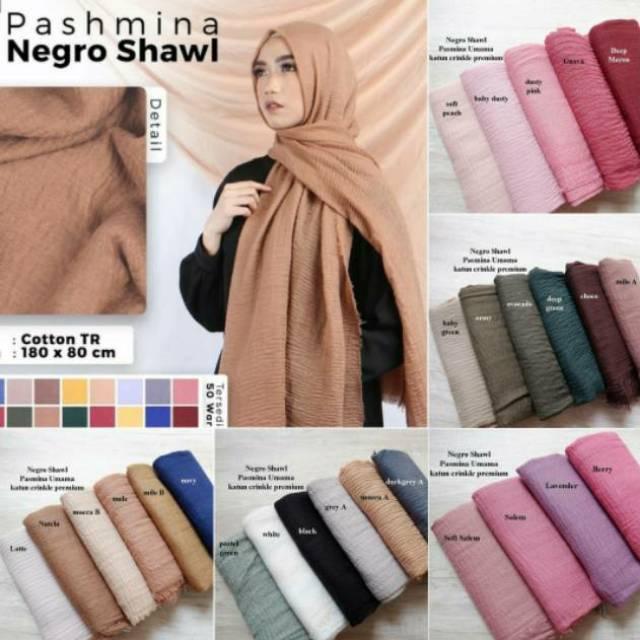 Terbaru Pashmina Negro Shawl Pashmina Kusut Negro Shawl By Umama Shopee Indonesia