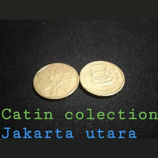 Gambar Uang Koin Singapura Sh 188 Uang Koin 1 Dollar Singapura Shopee Indonesia