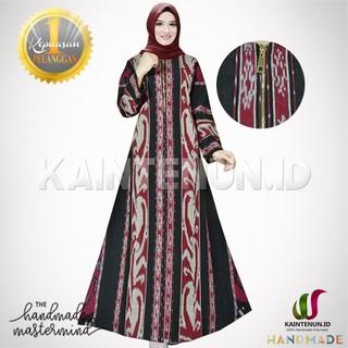Gamis Batik Wanita Muslimah Cantik Etnik Handmade Kain Tenun Troso Gms001 Shopee Indonesia