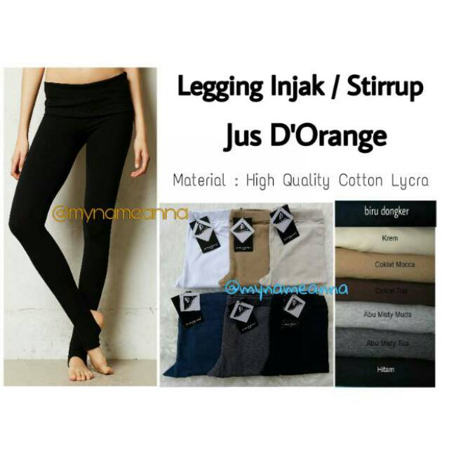 Jus D Orange Legging Injak Tebal Premium Shopee Indonesia