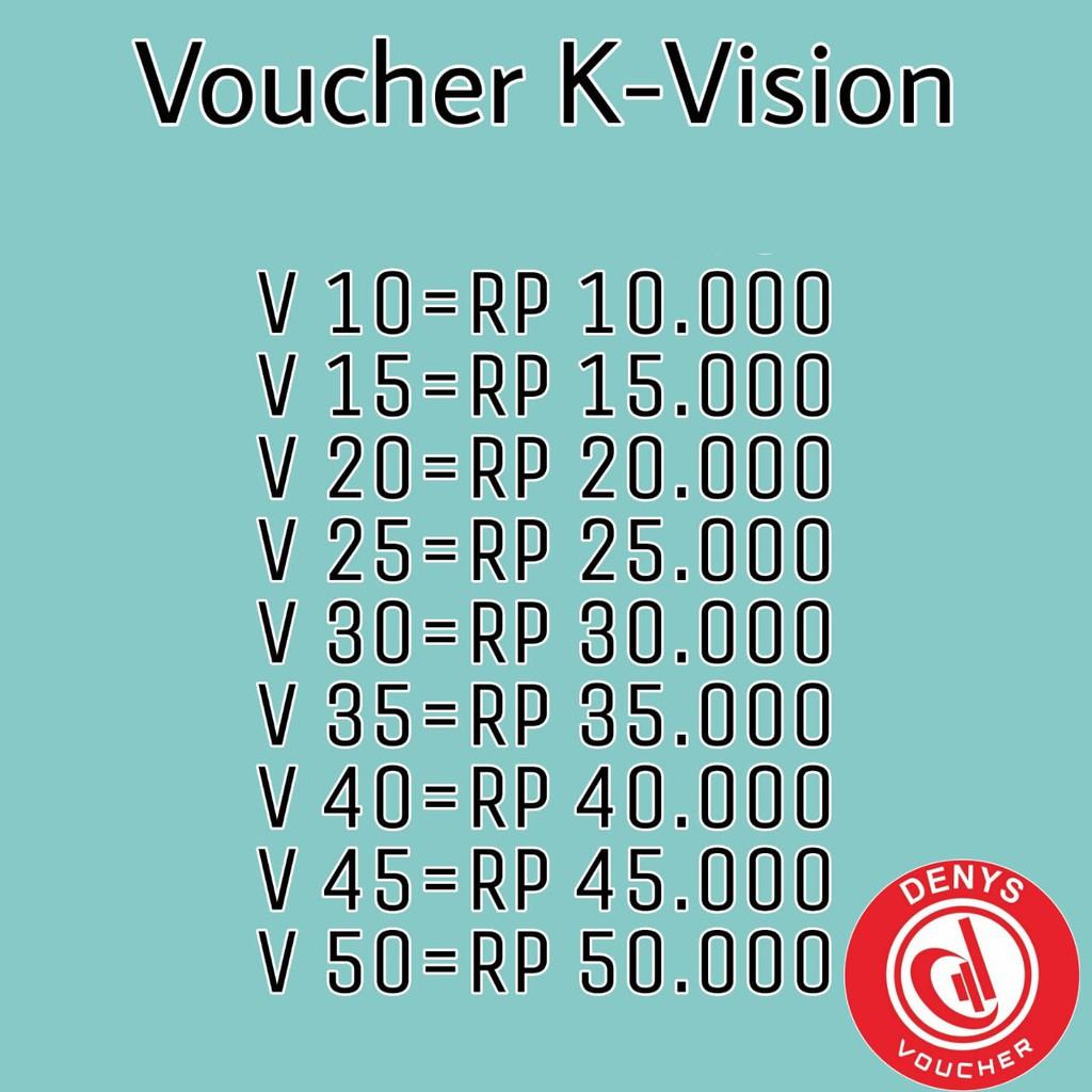 Voucher Saldo Paket K-Vision Bromo Cartenz GOL