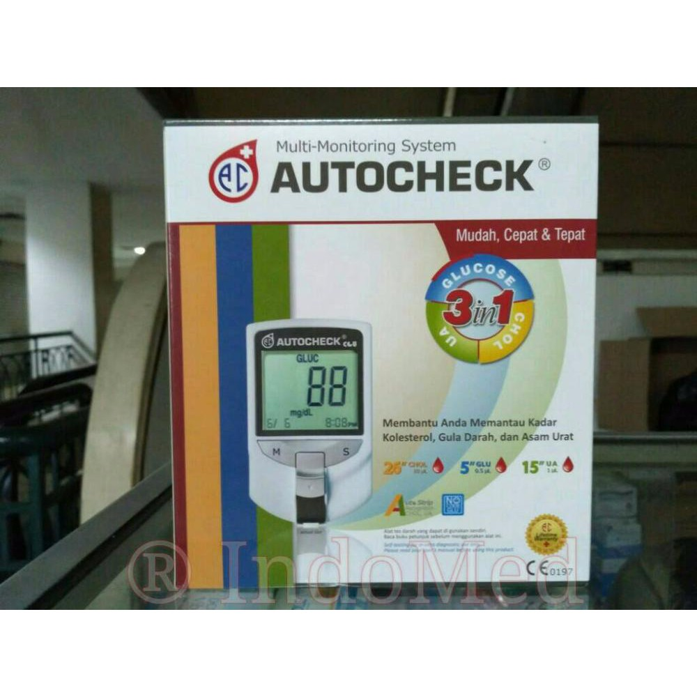 Alat Cek Gula Darah Asam Urat Kolesterol Autocheck 3in1 Diskon Paket Strip Kolestrol Shopee Indonesia