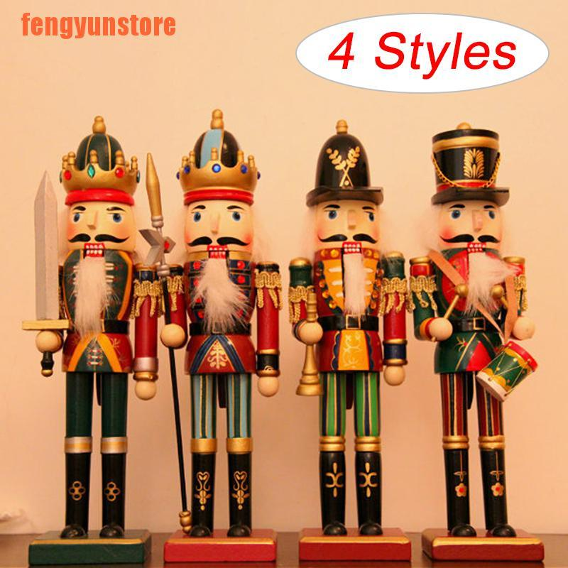 #1 FLAMEER Wooden Nutcracker Soldier Figures Model Collectibles Puppet Dolls Home Decoration Kids Gift
