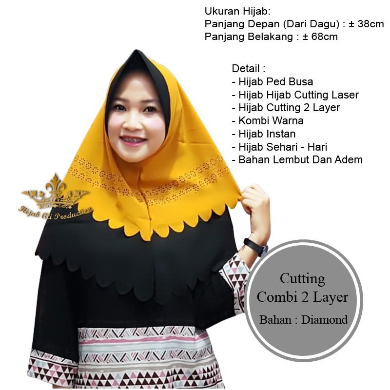 Hijab Pet Mutiara Laser Dua Layer Shopee Indonesia