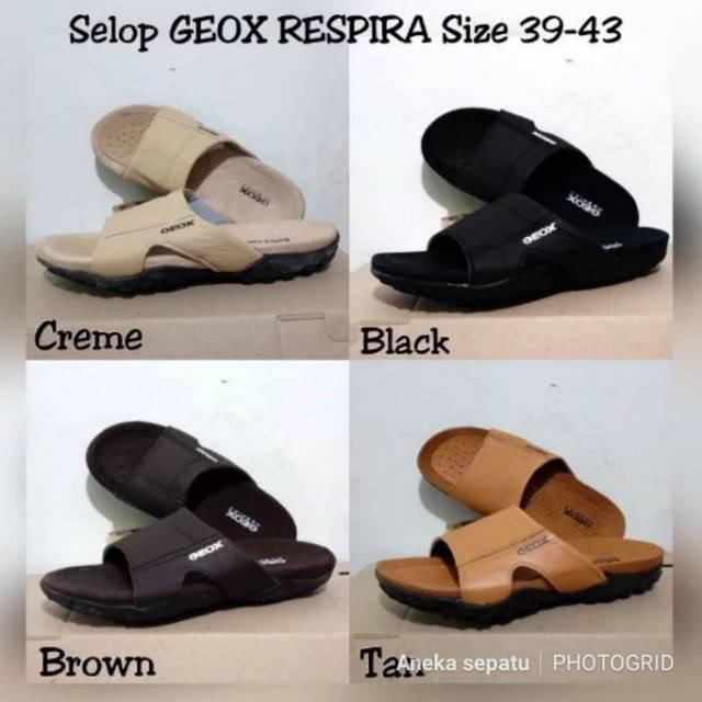 Sandal Pria Sandal Slop Sandal kulit Sandal Geox Respira cFHs7