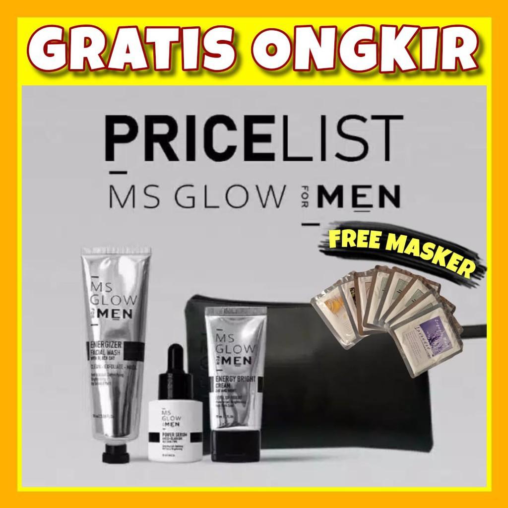 kd4hw     MS GLOW MEN MS Glow For Men Paket Perawatan Wajah Pria Skincare Wajah Facial Wash Serum