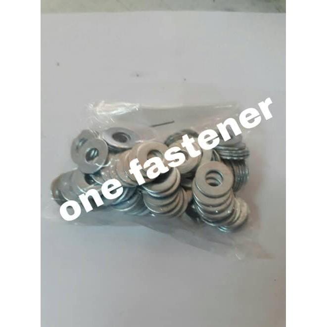 ring plat PUTIH 5mm M5 100 pc