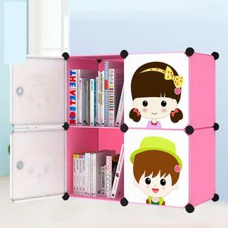 Lemari Plastik Baju 2-4 pink / Anak Rak baju Rak Buku Multi function - Anti air | Shopee Indonesia
